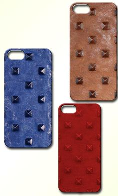 Valenz Handmade embossed studded leather iPhone cases