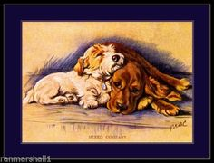 Print-Cocker-Spaniel-Sealyham-Terrier-Dog-Art-Picture