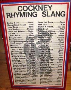Rhymming slang