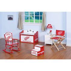 Detroit Red Wings Baby Room Decor!! I love this!!