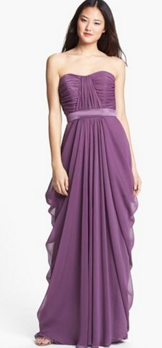 Gorgeous gown in plum