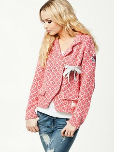 Lovely Knit Jacket - Odd Molly - Coral Pink - Jumpers & Cardigans - Clothing - Women - Nelly.com Uk