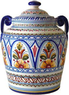 Ceramic Cookie Jar from Spain From Spain, Inc. http://www.amazon.com/dp/B0011DQYJQ/ref=cm_sw_r_pi_dp_QClSwb1M1QGGX