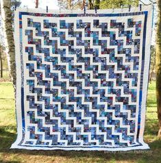 Scrappy Rail Fence Quilt Pattern