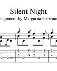 Ноты, табы для гитары. Silent Night - Франц Грубер. Guitar Sheet Music, Silent Night, Math, Math Resources, Mathematics