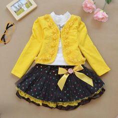Long Sleeve Blouse + Skirt + Coat