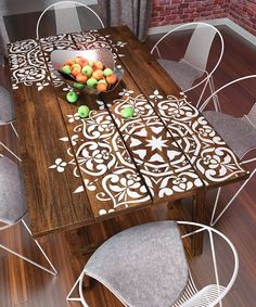 What a beautiful Mandala Stencil Pallet Table - Live from Julie's House