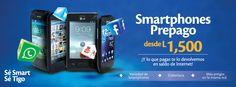 Adquiere tu Smartphone Prepago Tigo desde L1,500