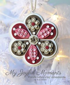 Handcrafted Polymer Clay Ornament por MyJoyfulMoments en Etsy, $15.00