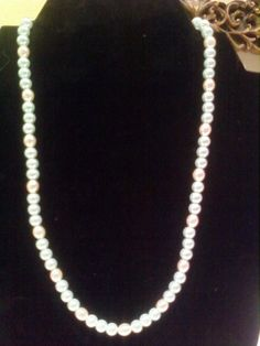 Green and white pearls necklace by BarbaraJeaniesJewels on Etsy, $15.00