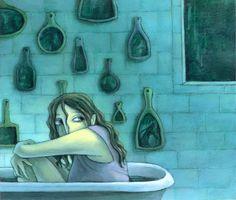 made by: Kelly Murphy , 'The Blue Bathtub' - illustration