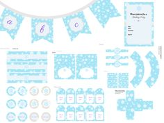 Frozen Birthday Party, Frozen Party Printables, Frozen Birthday, Frozen Banner, Birthday Party Packages, Christmas Printable, Snow Ice