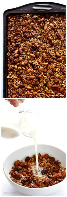 Chai-Spiced Granola -- easy to make, naturally sweetened, and it tastes just like chai! | gimmesomeoven.com