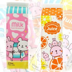 Milk and Juice carton Pencil case
