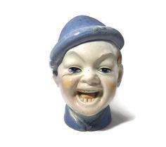 ♥✾ #Vintage Garnier Decanter - Garnier Enghien French Pottery Laughing Man Figurine, http://etsy.me/2e2FijA
