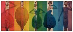 'Rage for color', photo by Erwin Blumenfeld, October 15, 1958 via Retrogasm