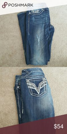 Vigoss Chelsea Slim Boot Jeans, Size 5/6 Length 33 Jeans worn once. Slim boot. Size 5/6 with inseam 33 Vigoss Jeans