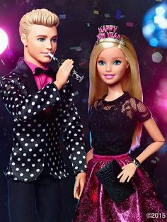 Ken n BArbie new year