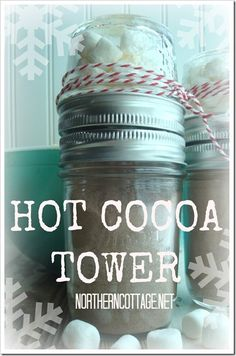 hot cocoa tower@NorthernCottage.net
