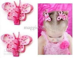 Wholesale 2-3quot; Baby Girls' hair bow handmade ribbon Boutique hairbows hairclip Hair Clip A302, Free shipping, $1.15-1.32/Piece | DHgate