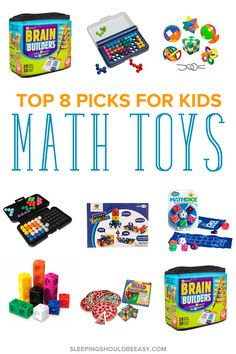 Teach your child to love math with these math toys for kids! Playing math games with your children encourages skills to make sense of math concepts. And presenting math as games makes it that much more fun.