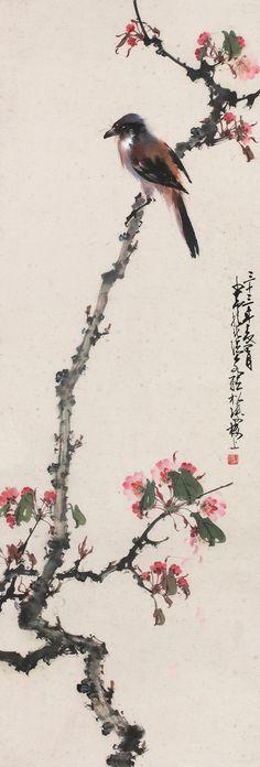 Zhao Shao-an (趙少昂) ,   1944年作 花鸟