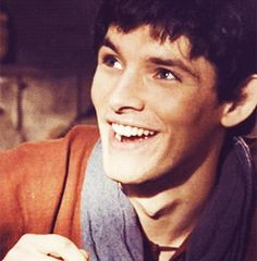 Colin Morgan ;D he has such a beautiful smile. I'd love to see one in person, smiles are always better in person. =)