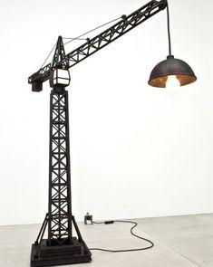Crane Lamp, a floor lamp by Studio Job Welded Furniture, Cool Floor Lamps, Light Art, Lighting Design, Decoration, House Design, Flooring, Lights, Home Decor
