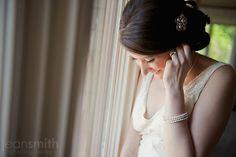 Cute, natural bride.