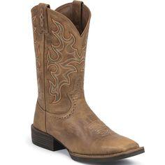 SV7213 Justin Men's Sliver T Toe Western Boots - Tan