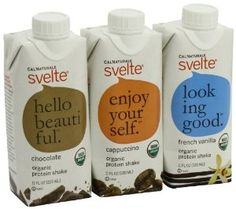 CalNaturale Svelte Organic Protein Shake, Variety Pack, 11 Ounce Aseptic Boxes (Pack of 12) - http://handygrocery.org/grocery-gourmet-food/beverages/protein-drinks/calnaturale-svelte-organic-protein-shake-variety-pack-11-ounce-aseptic-boxes-pack-of-12-com/