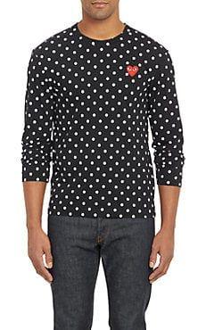 Polka Dot Long Sleeve T Shirt Tops Designs Mens Designer Shirts
