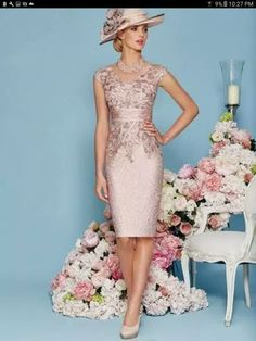 2017 Knee Length Women Gown Mother Wedding Party Cloths vestido de noche paseo Lace Mother of the bride with boleroRonald Joyce 2016 Mother Of The Bride Dresses For Weddings Knee Length Lace Applique Sheath Mother's Dress V Neck Mother Evening GownsFenghu Mother Of Bride Outfits, Mother Of Groom Dresses, Mothers Dresses, Mother Of The Bride Dresses Knee Length, Mother Bride, Mother Of The Bride Gowns, Brides Mom Dress, Dress Outfits, Fashion Dresses