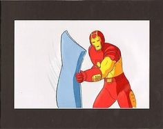 Iron Man cartoon-used Production Animation Cell Marvel 1994-6 2*