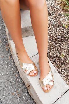 Gold Strappy Sandals - Dottie Couture Boutique