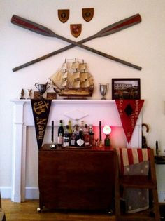 brilliant!!!  what to do with those oars i've been hauling around for years...