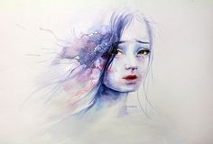 Please follow me on Instagram for daily art and sketches! Thank you so much darlings! Another painting inspired by agnes cecile. Watercolor ~2hrs