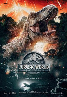 Jurassic World Fallen Kingdom. Life finds a way Jurassic Park Poster, Jurassic Park Party, Jurassic Park Series, Jurassic Movies, Jurassic World Movie, Jurassic World Fallen Kingdom, Jurassic World Wallpaper, Jurrassic Park, Walking With Dinosaurs