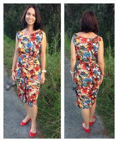 """""""Teach Me Fashion Wrap Dress"""" sewing pattern by Donna at Sew Independent #teachmefashion"""