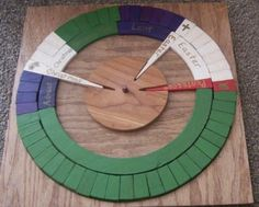 """I like the larger center piece to hold the """"points"""" Christian Liturgical Calendar  PAINTED with by GardenofFrancis, $150.00"""