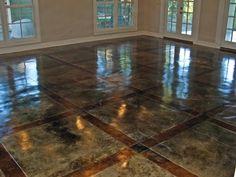 Acid Stained Concrete Floors - Decorative Concrete Overlay ...