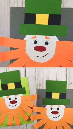 Shape leprechaun craft for preschoolers and older kids to make for St Patrick's Day. Great St Patrick craft template to use. patricks day ideas for preschool Shape leprechaun craft March Crafts, K Crafts, St Patrick's Day Crafts, Daycare Crafts, Letter A Crafts, Paper Crafts For Kids, Preschool Crafts, Shape Crafts, Saint Patricks Day Art