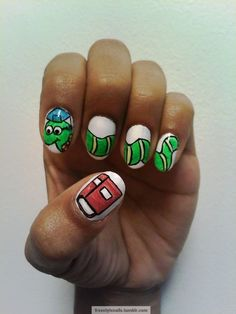 Get Nailed With Miss Pop: 7 Awesome Back-To-School Nail Art Designs Bookworm Nails – The Frisky