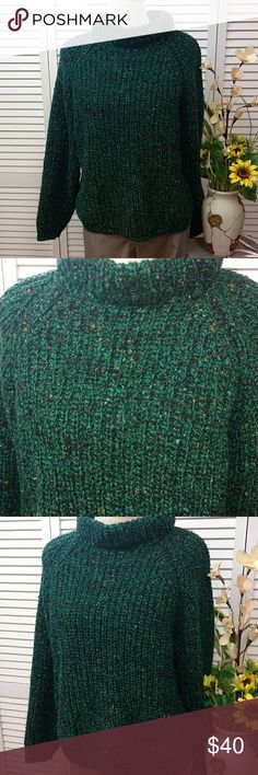 Vintage Gap sweater Vintage Gap oversized sweater, green, black with specks of orange , blue and purple. This would be lovely paired with leggings and boots of your choice!! 100% wool GAP Sweaters