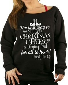 Buddy the elf cheer Christmas sweater. Christmas hoodie Christmas fleece. Ugly Sweater. Christmas party sweater. Christmas party. gift for by SheSquatsClothing on Etsy https://www.etsy.com/listing/248414763/buddy-the-elf-cheer-christmas-sweater