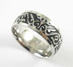 Free Shipping Titanium V65 Vintage Decorative Pattern Ring Stainless Steel Rings For Women Wedding Rings Fine Jewelry