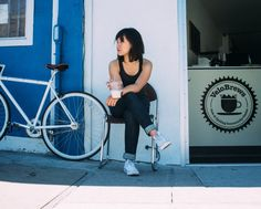 Jennie | VSCO Grid  #Levis #Commuter #Coffee #VSCOcam #Cycling