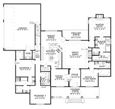 Country Style House Plan - 4 Beds 3.5 Baths 3194 Sq/Ft Plan #430 ...