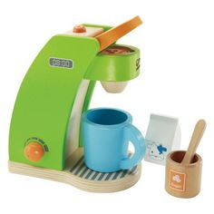 Hape Coffee Maker-obviously, she needs an espresso machine for her kitchen