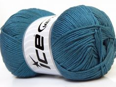 Baby AntiBacterial Blue knitting yarn from ice yarn
